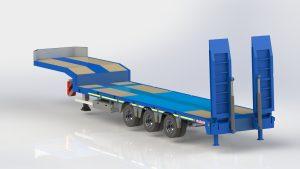 Nooteboom 3 axle trailer