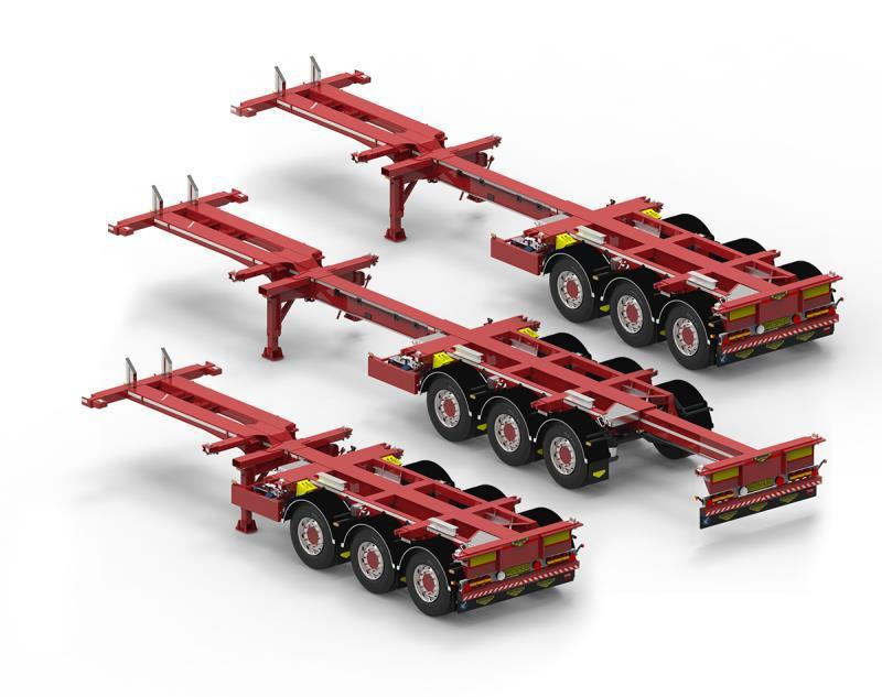 Broshuis 1:14 container chassis